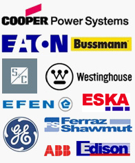 We carry products from many companies, including Cooper Power Systems, Eaton, Siemens, CH, Littelfuse, Efen, Bussman, SC, Westinghouse, GE, Ferraz-Shawmut, ABB, Edison, and Fusetek
